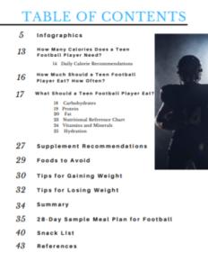 Football Mealplan Excerpt